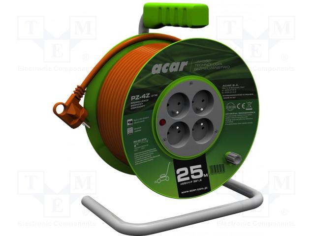 ACAR PZ-4Z/OTM.3X1.5/25M.P - Prodlužovací síťový kabel