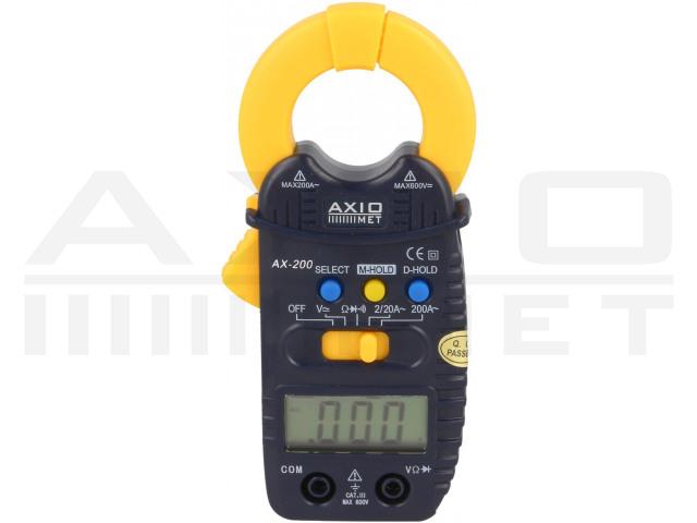 AX-200 AXIOMET, Medidor digital de pinza CA