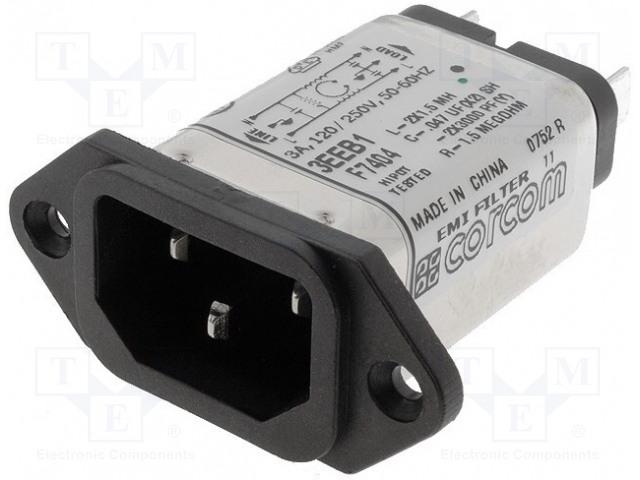 TE Connectivity 6609001-4 - Konektor: napájecí AC