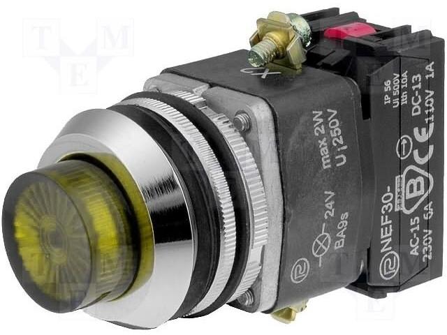 PROMET NEF30-WLGXY-24VDC - Přepínač: tlačítkový