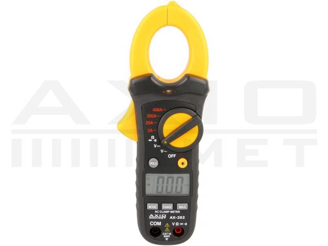 AX-202 AXIOMET, Medidor digital de pinza CA