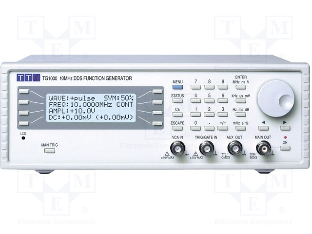 AIM-TTI TG1000 - Generátor: funkcí