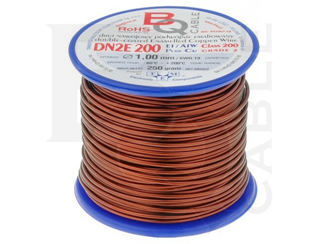 DN2E1.00/0.25 BQ CABLE, Coil wire