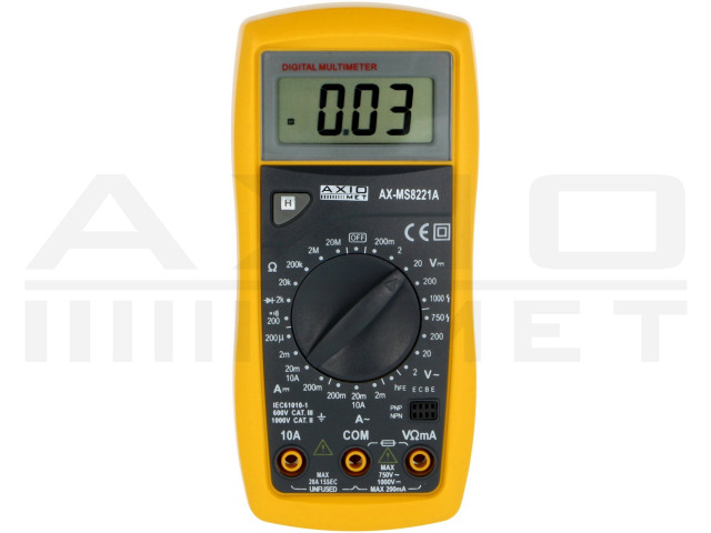 AX-MS8221A AXIOMET, Digitale multimeter