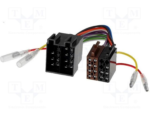 4CARMEDIA ZRS-ISO-ISO/VW - ISO zásuvka x2,ISO vidlice x2,napájecí vodiče