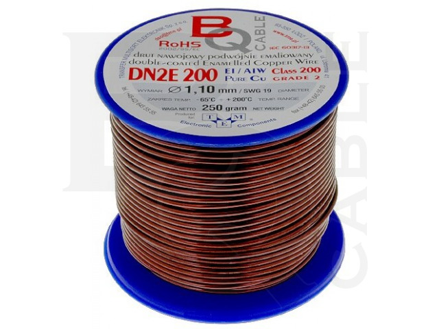 DN2E1.10/0.25 BQ CABLE, Coil wire