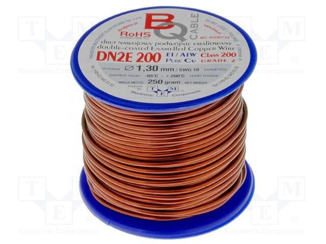 BQ CABLE DN2E1.30/0.25 - Drut nawojowy