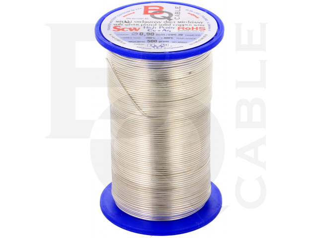 SCW-0.90/500 BQ CABLE, Silver plated copper wires