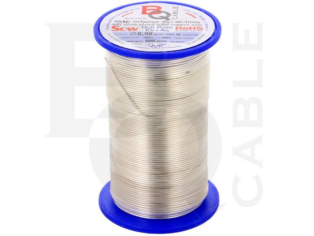 SCW-0.90/500 BQ CABLE, Srebrzony drut miedziany