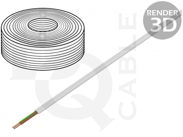 TEL-0030CCA-100/WH BQ CABLE, Leiding