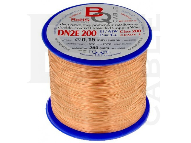 DN2E0.15/0.25 BQ CABLE, Coil wire