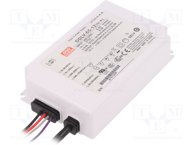 MEAN WELL ODLV-65-12 - Power supply: switched-mode