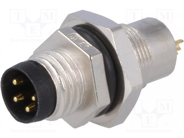 AMPHENOL LTW8-04PMMS-SH7001 - Konektor: M8
