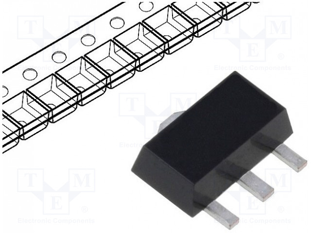 DIODES INCORPORATED BCX5110TA - Tranzistor: PNP
