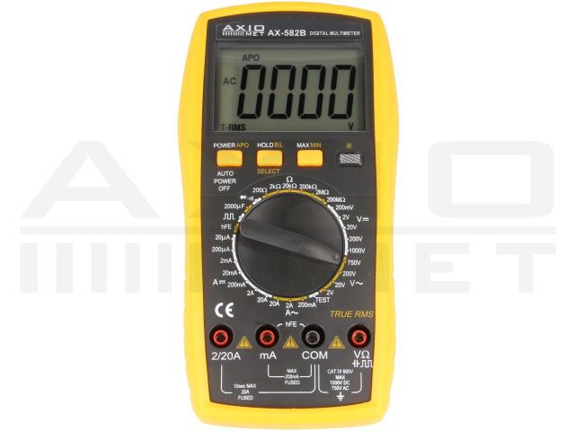 AX-582B AXIOMET, Multímetro digital