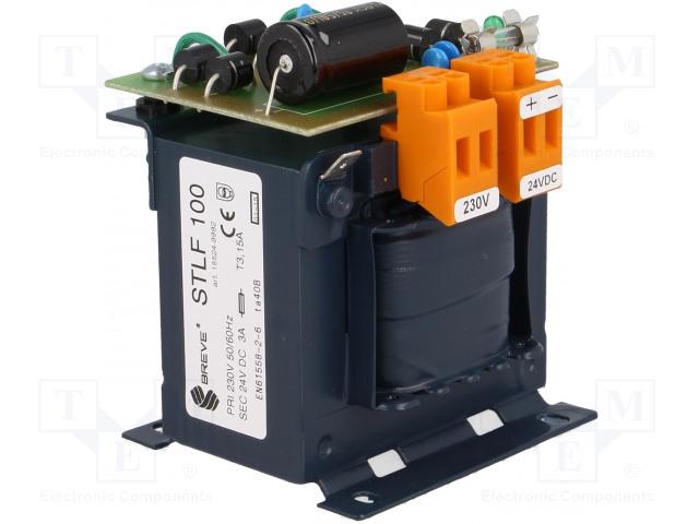 BREVE TUFVASSONS STLF100/230/24VDC - Napájecí zdroj: transformátorový