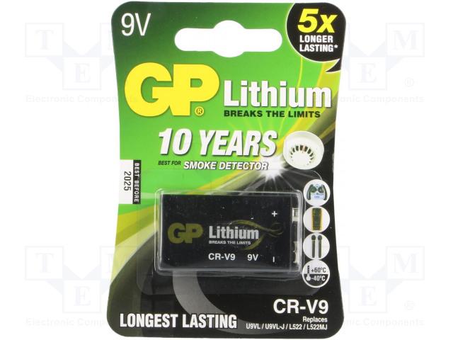 GP CRV9 GP B1 - Baterie: lithiové