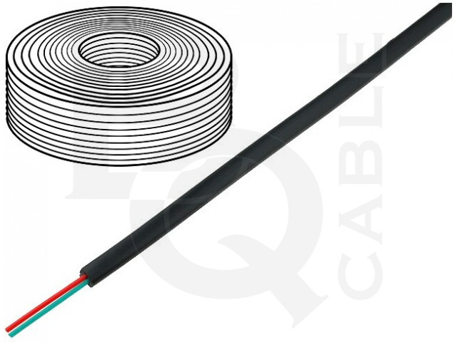 TEL-0030CCA-100/BK BQ CABLE, Wire
