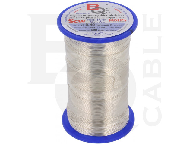 SCW-0.40/500 BQ CABLE, Silver plated copper wires