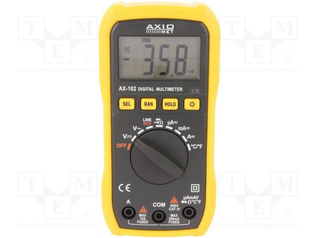 AXIOMET AX-102 - Digitális multiméter