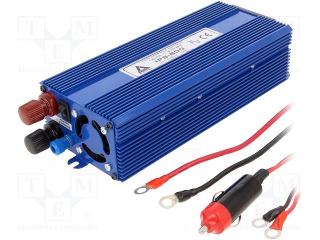 AZO DIGITAL IPS-800 12V/230V - Měnič: automobilový dc/ac