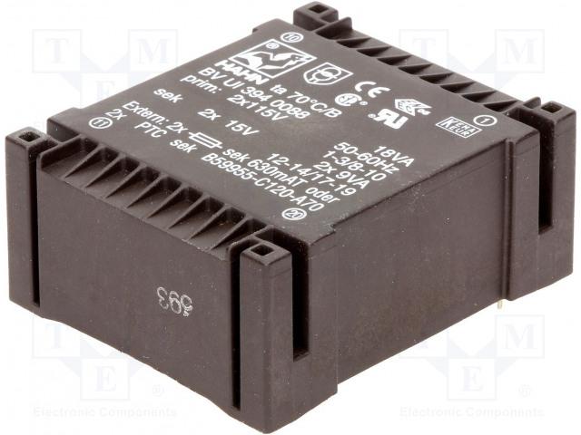 HAHN BV UI 394 0088 - Transformátor: zalévaný