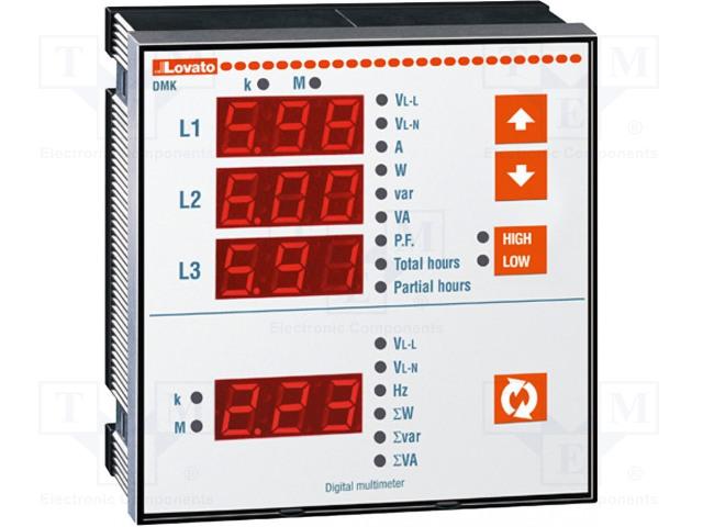 LOVATO ELECTRIC DMK 22 - Panelový měřič výkonu