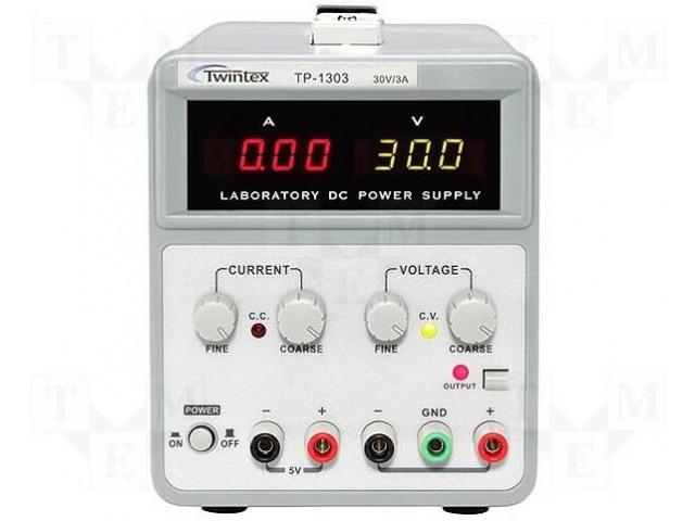TWINTEX TP-1305 - Zasilacz: laboratoryjny