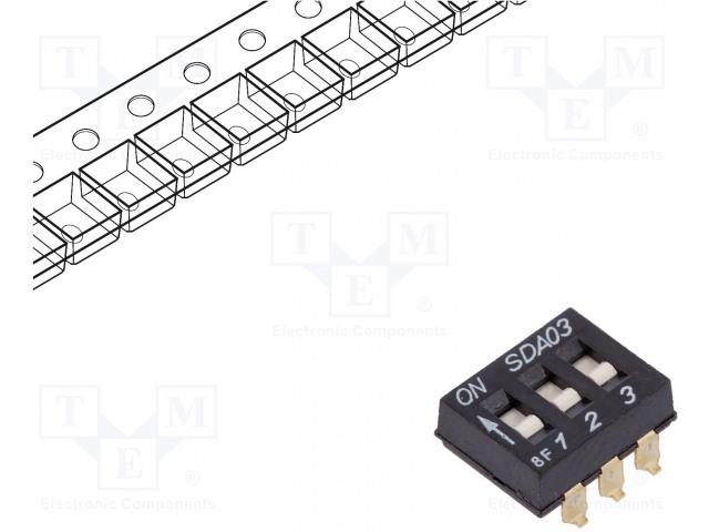 C&K SDA03H0SBR - Schalter: DIP-SWITCH