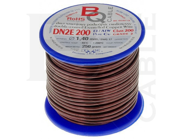 DN2E1.40/0.25 BQ CABLE, Coil wire