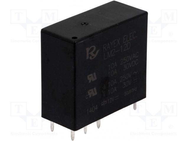 RAYEX ELECTRONICS LM2-12D - Relé: elektromagnetické