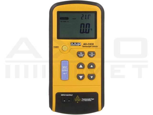 AX-C830 AXIOMET, Kalibrator