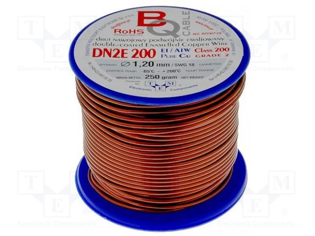 BQ CABLE DN2E1.20/0.25 - Drut nawojowy