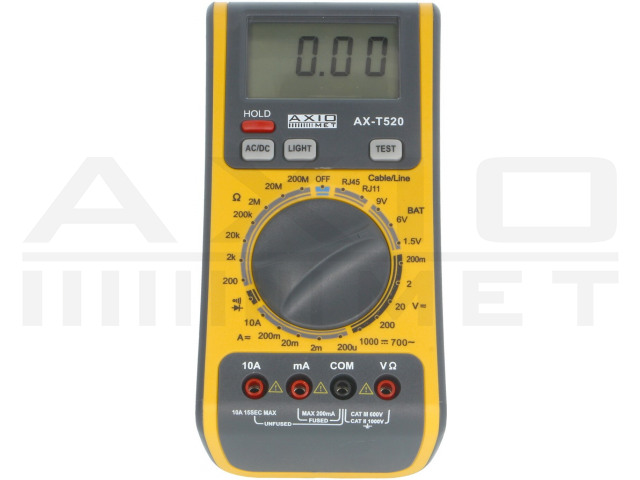 AX-T520 AXIOMET, Digital multimeter