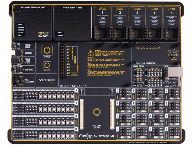 MIKROELEKTRONIKA FUSION FOR STM32 V8 - Výv.kit: STM32