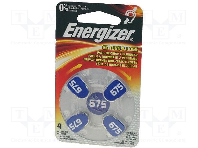ENERGIZER AC675 - Baterie: zinko-vzduchová (ZnO2)