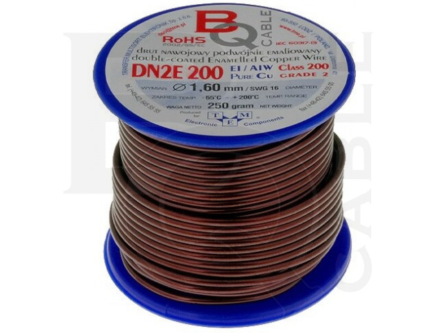 DN2E1.60/0.25 BQ CABLE, Coil wire