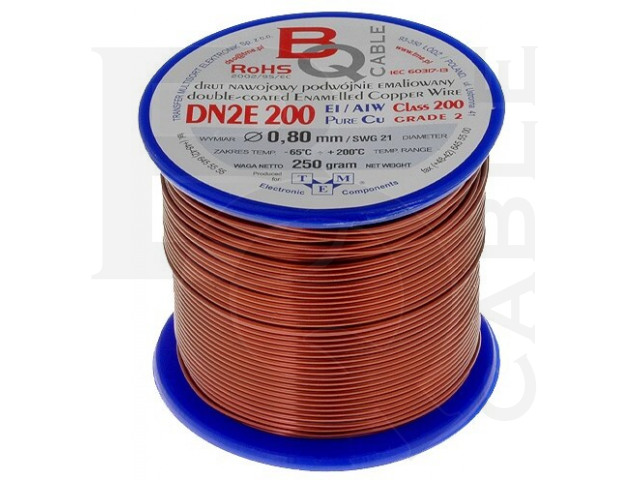 DN2E0.80/0.25 BQ CABLE, Coil wire