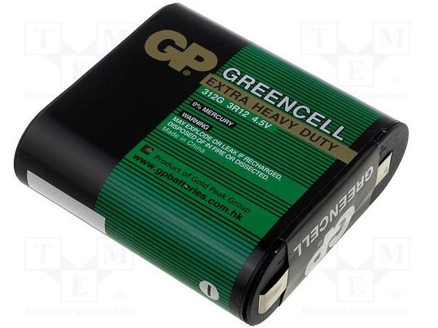 GP 312G-U1 - Baterie: zinko-chloridová