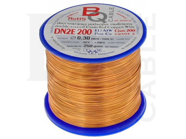 DN2E0.30/0.25 BQ CABLE, Coil wire
