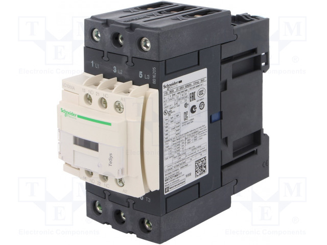 SCHNEIDER ELECTRIC LC1D50AE7 - Contactor: 3-pole