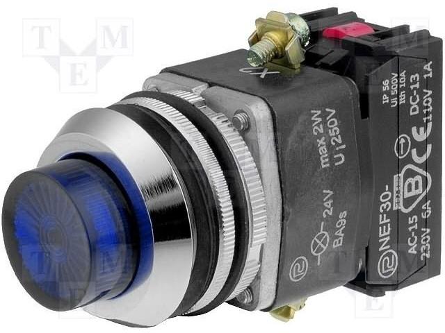 PROMET NEF30-WLNXY-24VDC - Přepínač: tlačítkový