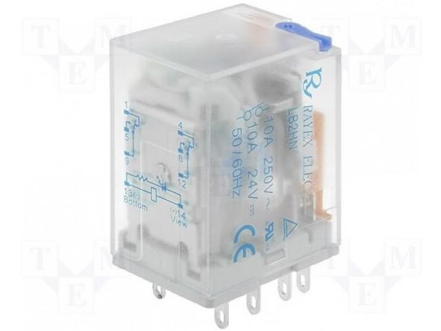 RAYEX ELECTRONICS LB2N-230ATS - Relé: elektromagnetické
