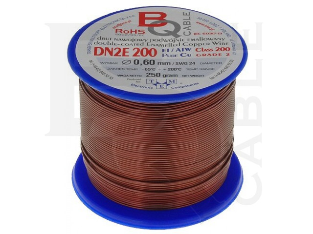 DN2E0.60/0.25 BQ CABLE, Coil wire