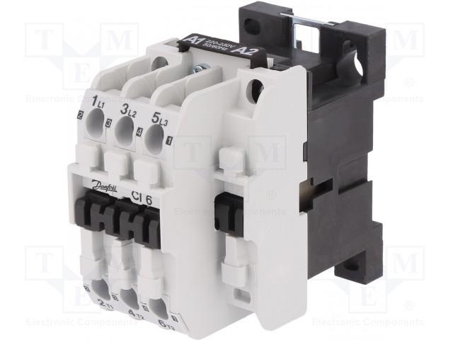 DANFOSS CI 6 230V AC 4P - Stykač: 4-pólový