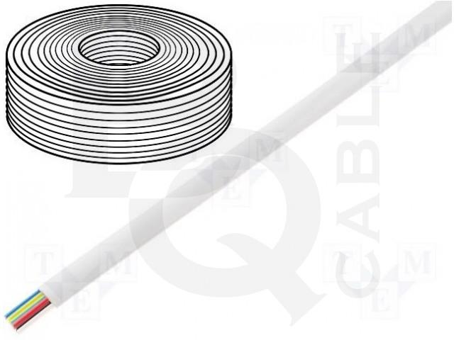 TEL-0034CCA-100/WH BQ CABLE, Leitungen