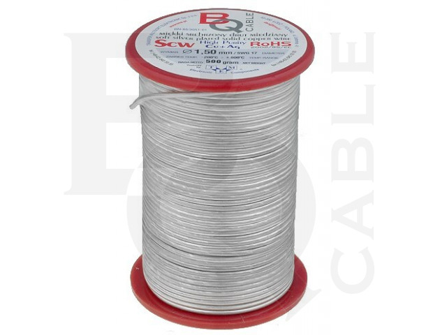 SCW-0.60/500 BQ CABLE, Silver plated copper wires