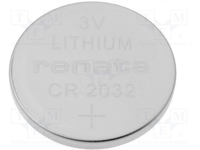 RENATA CR2032 - Battery: lithium