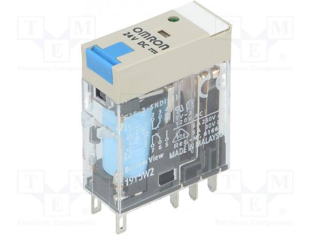 OMRON G2R-2-SNDI 24V DC - Relé: elektromagnetické