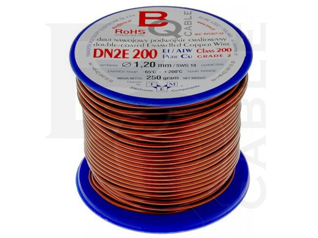 DN2E1.20/0.25 BQ CABLE, Coil wire